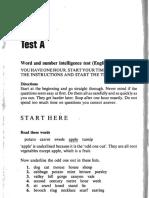 Three IQ Tests for Adults