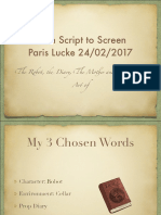 Script to Screen Art Of
