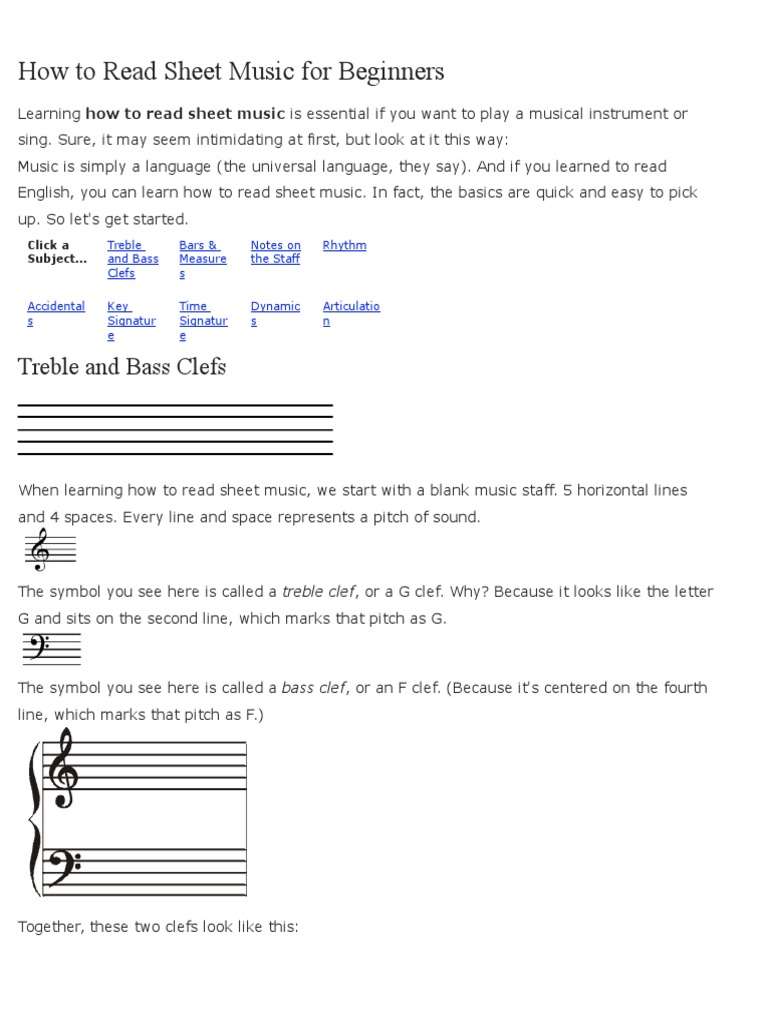 How to read sheet music for beginners clef musical notation biocorpaavc Images
