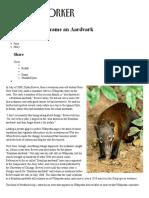 How a Raccoon Became an Aardvark