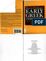 Heidegger Martin Early Greek Thinking  .pdf