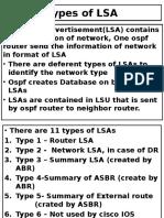 Types of LSA