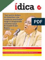"""""""LOS JUECES DEBEN SER HONESTOS Y DE CONDUCTA INTACHABLE"""" EXIGE EL MAGISTRADO CONSTITUCIONAL FERNANDO CALLE HAYEN"""