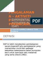 Experiential Activities Planner (Eap)