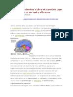 7 Descubrimientos Sobre El Cerebro Que Nos Ayudan a Ser Más Eficaces