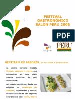 Festival Gastronómico Mestizaje de Sabores