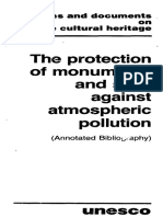 The Protection of Monuments and Sites Against Athmospheric Pollution