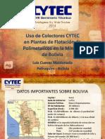 05 Uso de Colectores Cytec en Plantas de Flotación de Polimetálicos en La Minería de Bolivia - Luis Cuevas Petroquim