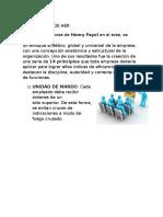 14 Principios de Henry Farol