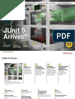 Java Magazine JUnit 5 Arrives | Net Beans | Java
