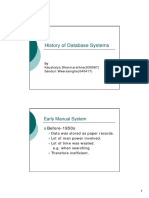 History of Dbms