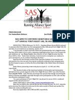 RAS Assumes Yuri's Night Fun Run 10K/5K Race Management