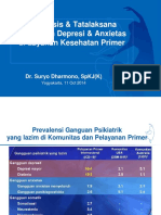 Diagnosis Tatalaksana Gangguan Depresi Anxietas Di Layanan Kesehatan Primer - Dr. Suryo Dharmono Spkjk