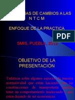 SUGERENCIAS DE CAMBIOS A LAS N T C M