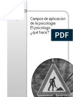 Campos de La Psicologia Clinica en Mexico 1