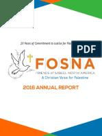 FOSNA 2016 Annual Report