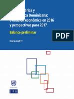 Centroamerica y RD Evolución Económica 2016 y Perspectivas 2017