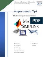 Rapport Automatique Tp1
