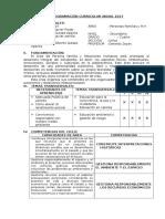 Programacion Anual PFRH 4 Grado