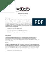 Studio Baseline Assessment_Spring 2010