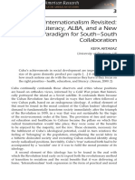 2012 Cuba's Internationalism Revisited- Exporting Literacy, ALBA, And a New Paradigm for South-South Collaboration