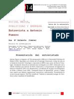Icono14. A8/V2. Social Media, Publicidad y Empresa. Entrevista a Antonio Fumero