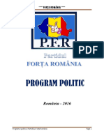 Program Politic Forta Romania