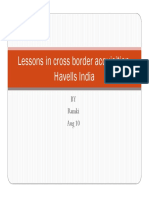 Lessons in Cross Border Acquisition-Havells India
