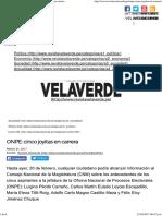 REVISTA VELAVERDE – ONPE_ Cinco Joyitas en Carrera