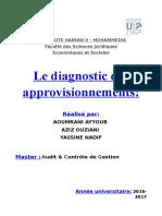 Rapport diagnostic d'approvisionnement