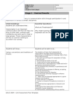 unit assessment plan template  f