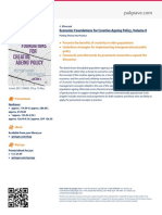 Economic Foundations for Creative Ageing Policy, Volume II