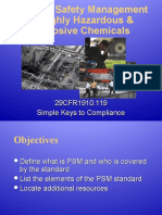 Psm Compliance