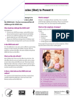 CDC Mumps Fact Sheet For Parents