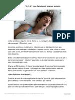 """A incrível Técnica """"4-7-8″ que faz dormir em um minuto - Planeta Pop"""
