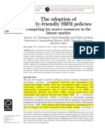 The Adoption of Family-friendly HRM Policies