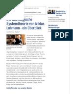 Die Soziologische Systemtheorie Von Niklas Luhmann - Ein Überblick _ NDR