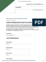 Gmail - Caracterización Institucional