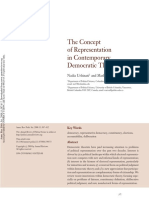 URBINATI, WARREN. the Concept of Representation in Contemporary Democratic Theory
