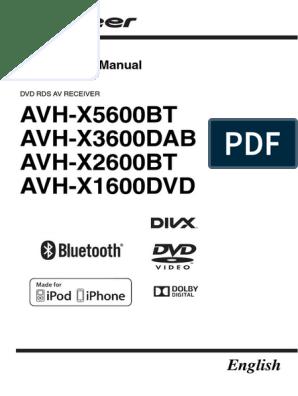 En-pioneer Avh x5600bt | I Pod | Usb