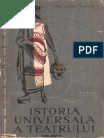 Zamfirescu, Ion-Istoria Universală a Teatrului, Vol. 1, 1958