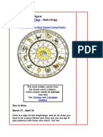 Greek Zodiac Signs for Star sun