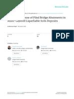 Seismic Response of Piled Bridge Abutments in Multi-Layered Liquefiable Soils Deposits-2015