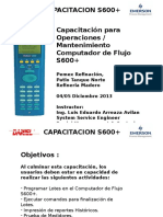 S600+ maintenance training Madero