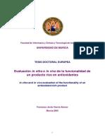 TESIS - Evaluacion in Vivo y in Vitro de Producto Rico en Antioxidantes