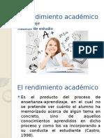 El Rendimiento Académico