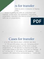 Cases for Transfer