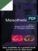 Robinson Mesothelioma LIVRO
