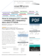 How to Interpret FFT Results – Complex DFT, Frequency Bins and FFTShift – GaussianWaves