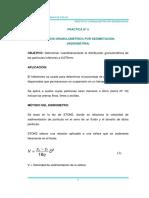 PRACTICA N-¦ 5 An+ílisis Granulom+®trico por Sedimentaci+¦n